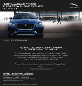 La nuova Jaguar F-Pace ti aspetta a Varese e a Castellanza il 16 e 17 aprile 2016 con un Evento Speciale